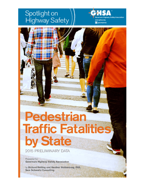 Pedestrian Traffic Fatalities by State: 2015 Preliminary Data