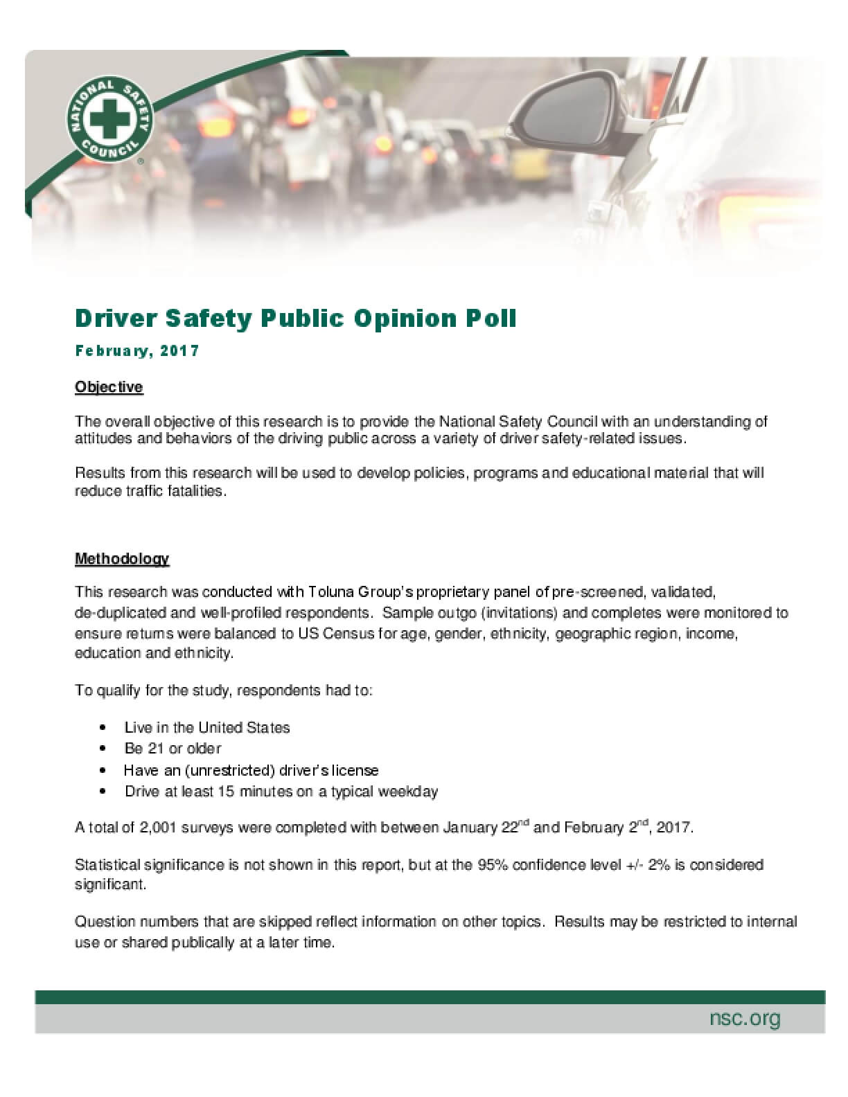 Driver Safety Public Opinion Poll