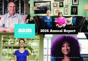 Association for Accessible Medicines 2016 Annual Report