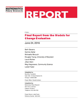 Final Report from the Models for Change Evaluation