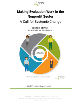 Making Evaluation Work in the Nonprofit Sector: A Call for Systemic Change