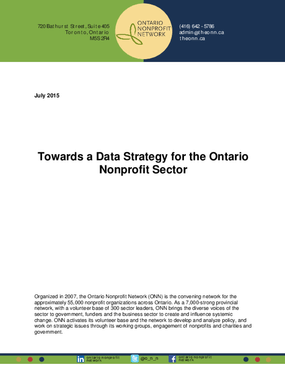 Towards a Data Strategy for the Ontario Nonprofit Sector