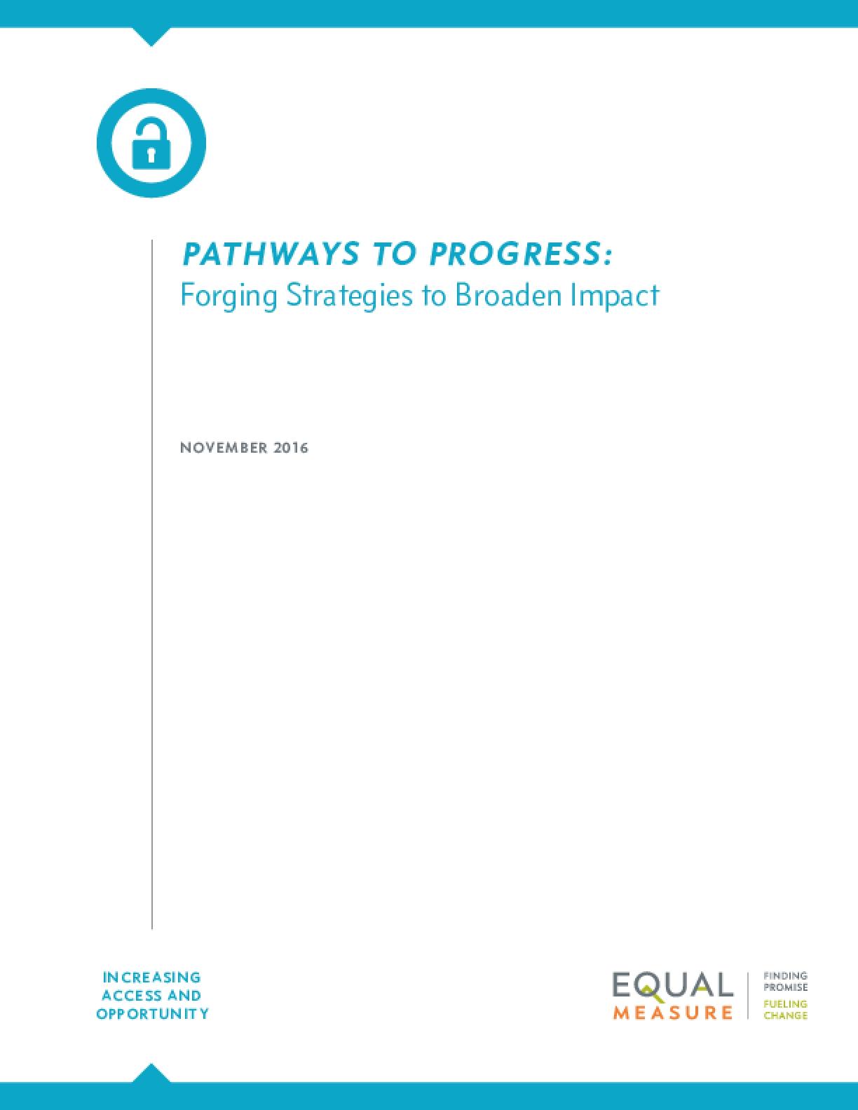 Pathways to Progress: Forging Strategies to Broaden Impact