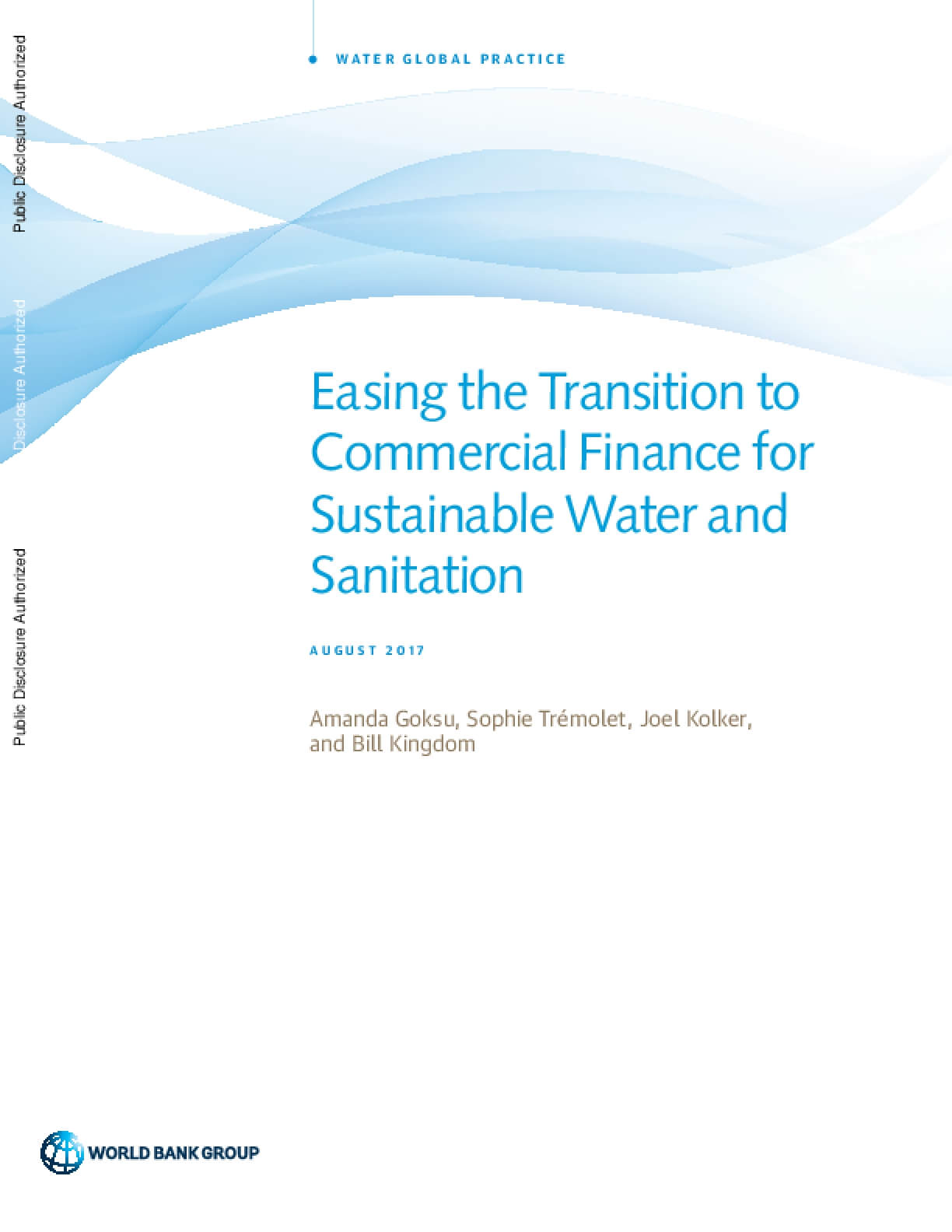 Easing the Transition to Commercial Finance for Sustainable Water and Sanitation