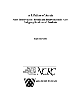 A Lifetime of Assets - Asset Preservation: Trends and Interventions in Asset Stripping Services and