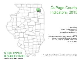 DuPage County Indicators, 2015