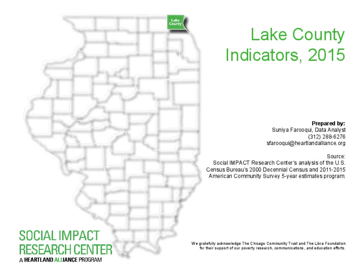 Lake County Indicators, 2015