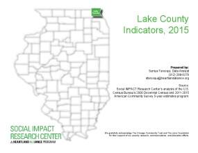 Lake County Indicators, 2015