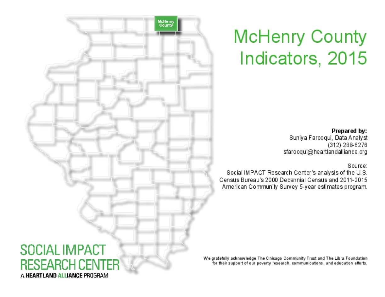 McHenry County Indicators, 2015