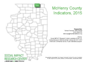 McHenry County Indicators, 2015