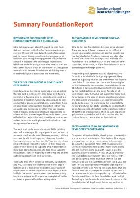 Summary Foundation Report