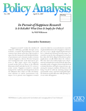In Pursuit of Happiness Research: Is It Reliable? What Does It Imply for Policy?