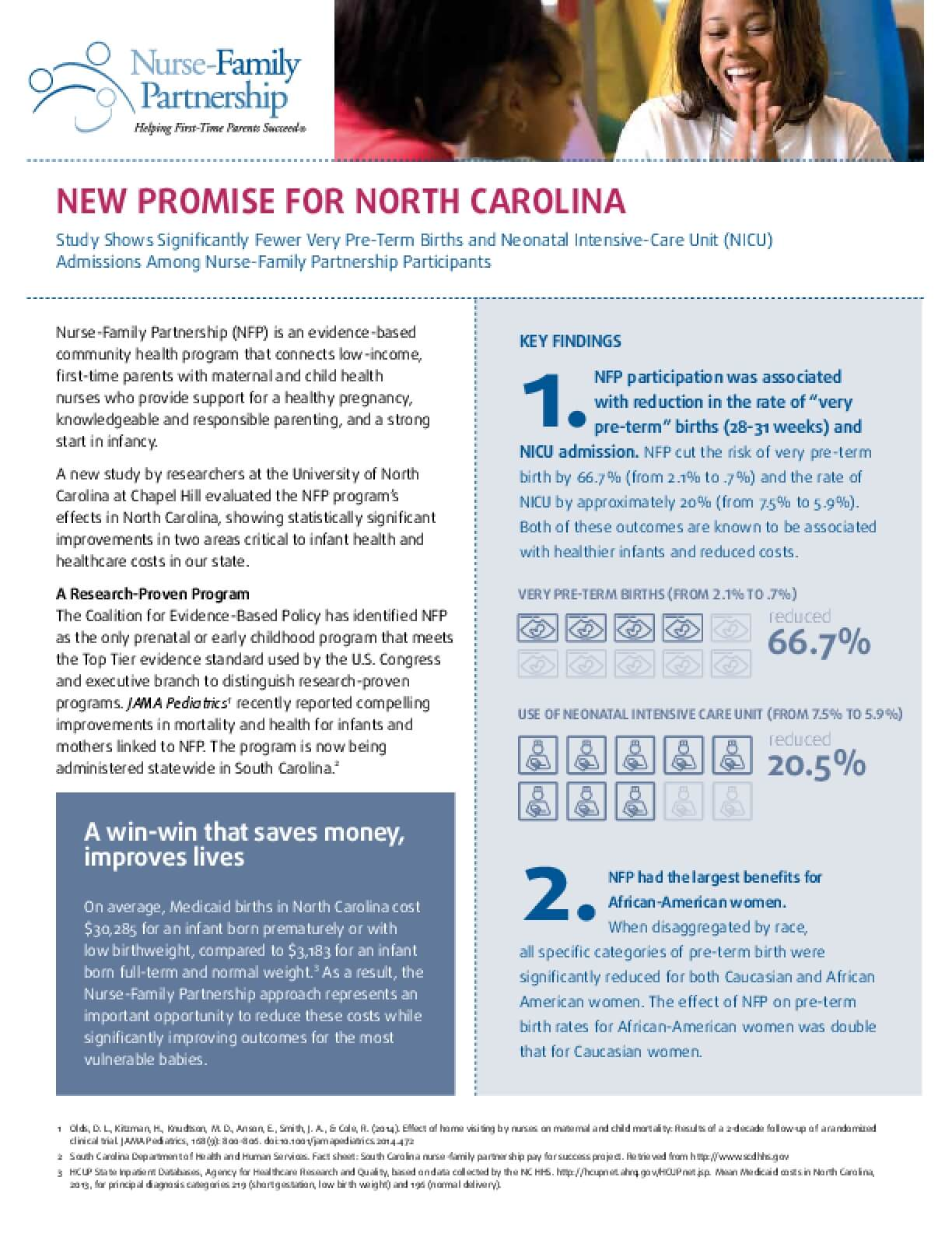 Evaluation of the Nurse Family Partnership in North Carolina, Executive Summary