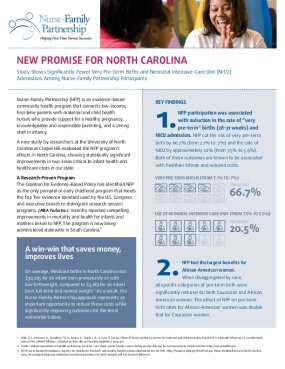Evaluation of the Nurse Family Partnership in North Carolina, Executive Summary