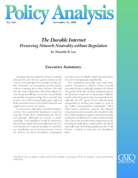 The Durable Internet: Preserving Network Neutrality without Regulation