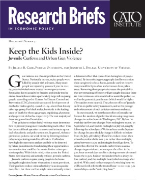 Keep the Kids Inside? Juvenile Curfews and Urban Gun Violence