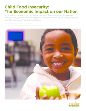Child Food Insecurity: The Economic Impact on our Nation