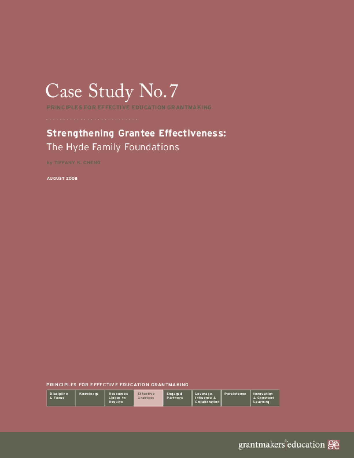 Strengthening Grantee Effectiveness: The Hyde Family Foundations