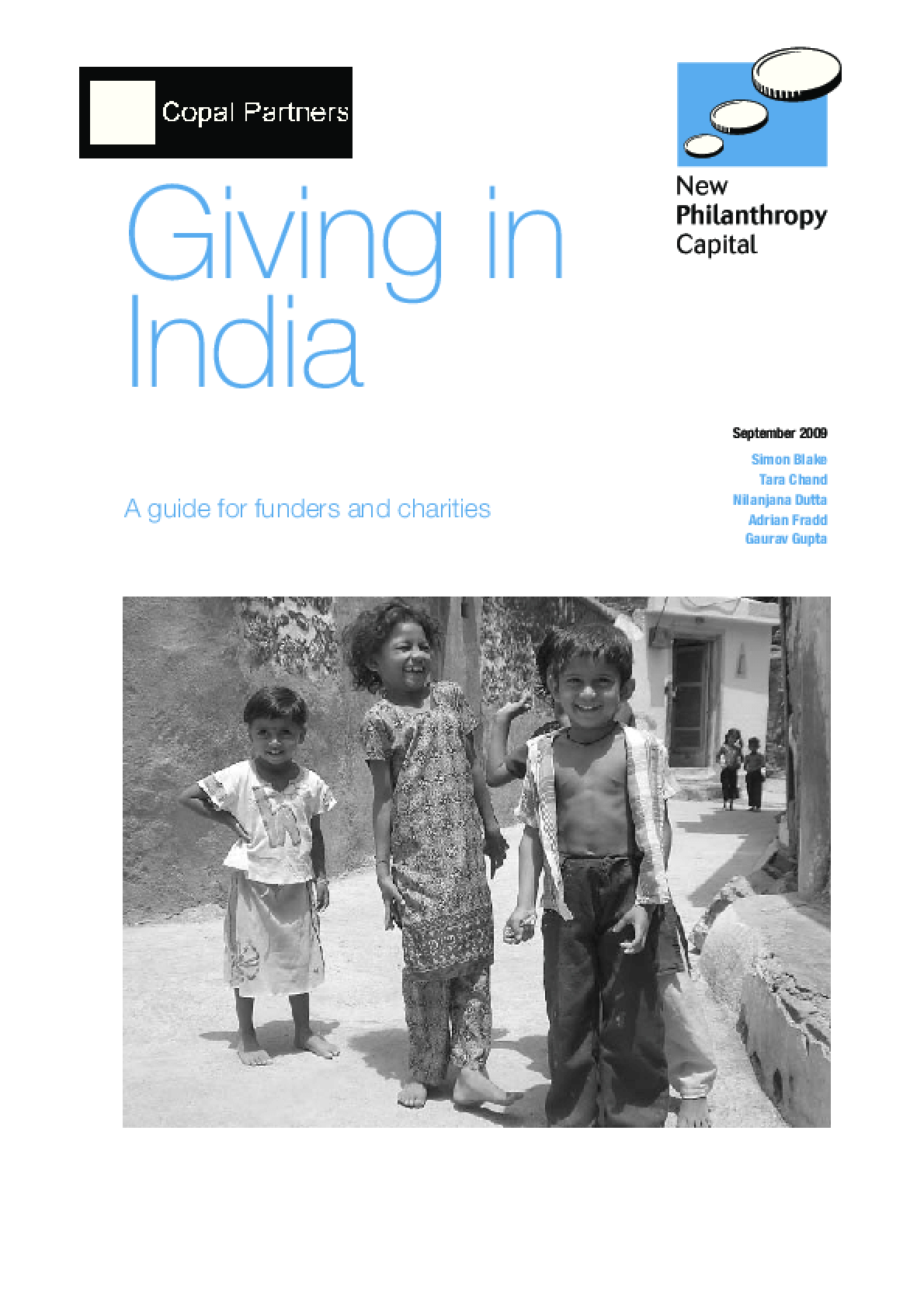 Giving in India: A Guide for Funders and Charities