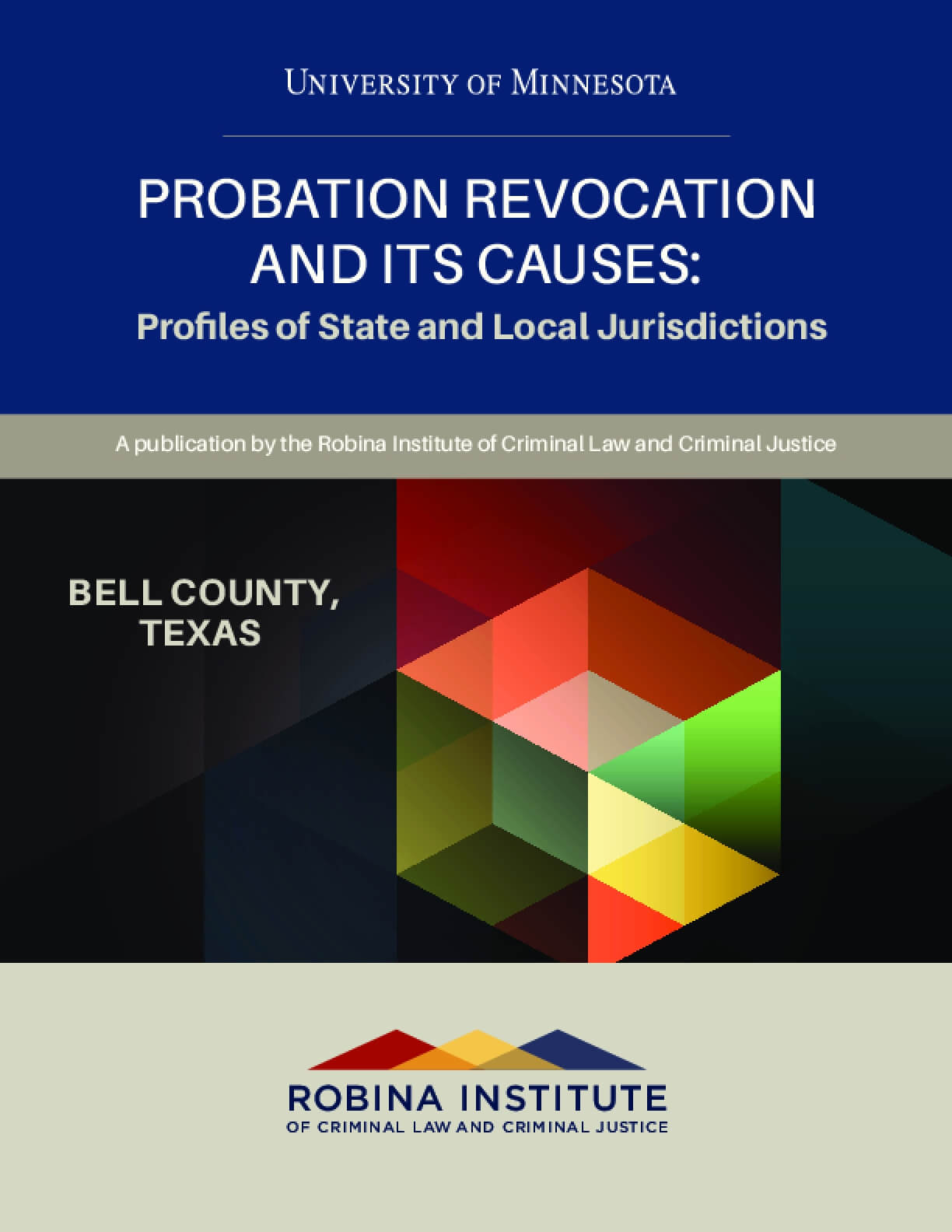 Probation Revocation and Its Causes: Profiles of State and Local Jurisdictions, Bell County, Texas