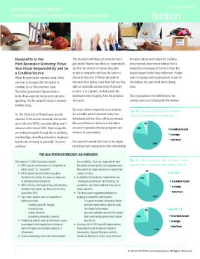 2010 Fenton Forecast: Leadership and Effectiveness Among Nonprofits