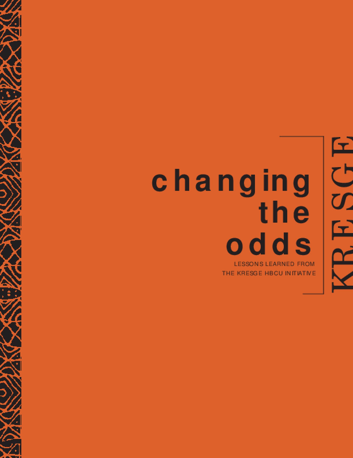 Changing the Odds: Lessons Learned From the Kresge HBCU Initiative