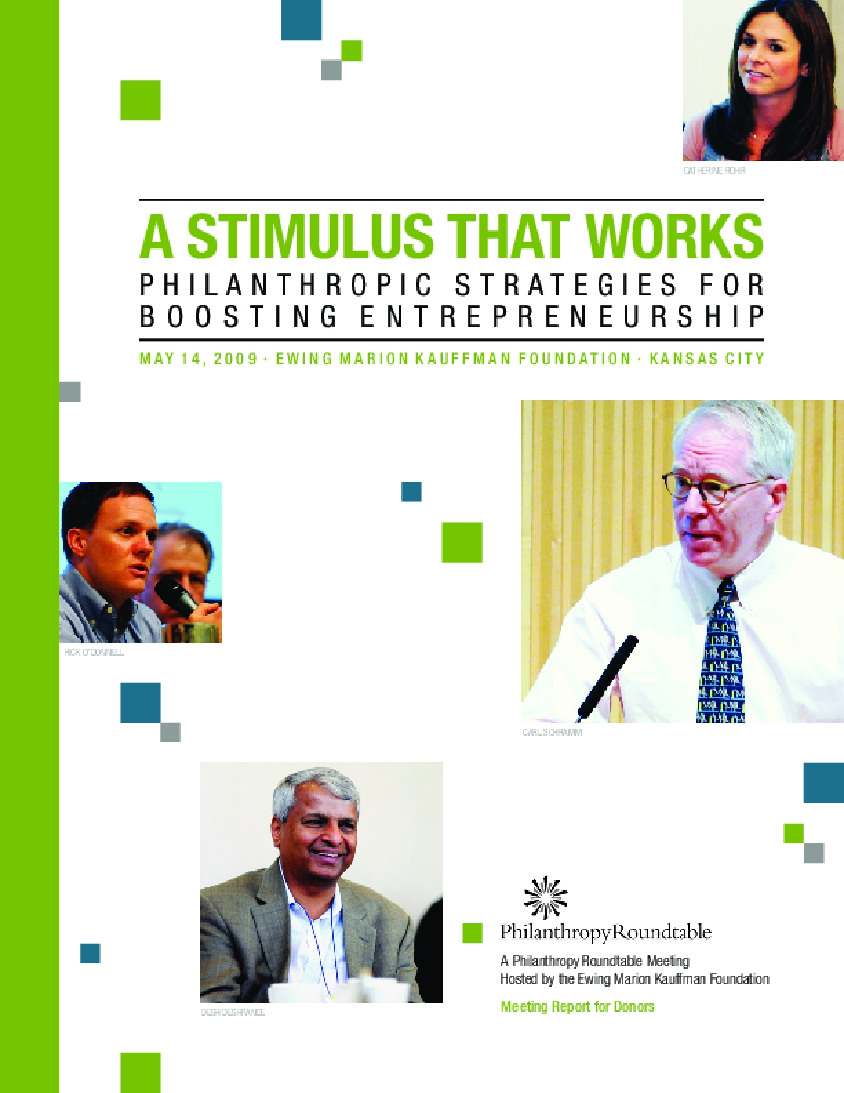 A Stimulus That Works: Philanthropic Strategies for Boosting Entrepreneurship