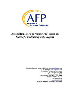 Association of Fundraising Professionals State of Fundraising 2005 Report