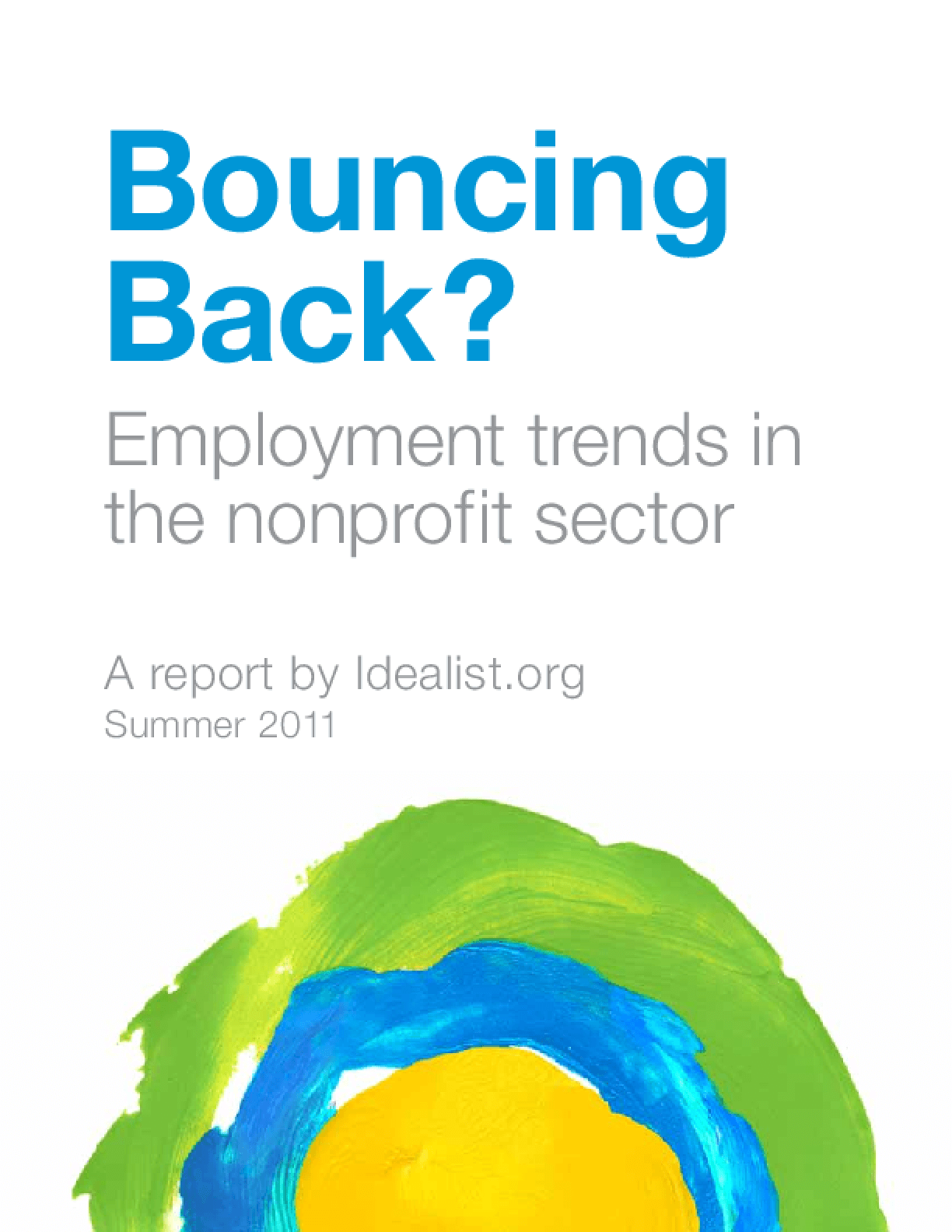 Bouncing Back? Employment Trends in the Nonprofit Sector