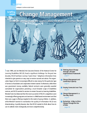 Change Management: Strategies to Help Nonprofit Leaders Make the Most of Uncertain Times