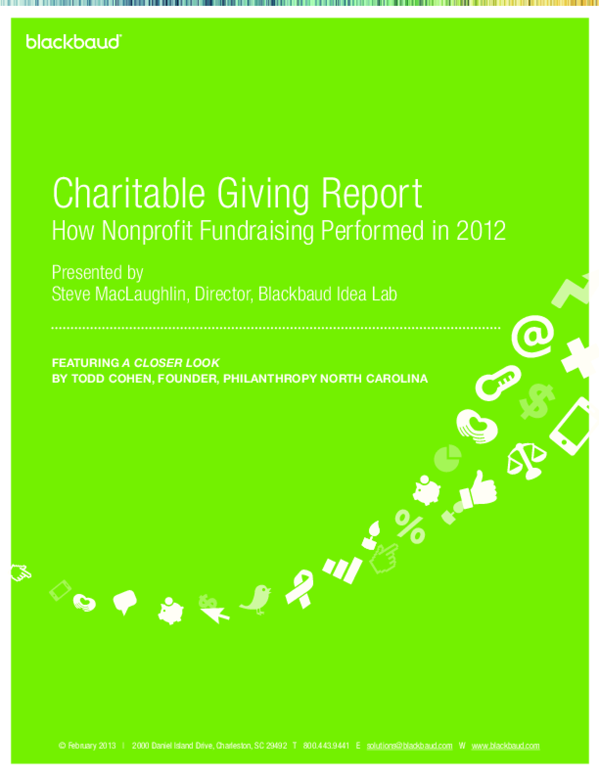 Charitable Giving Report: How Nonprofit Fundraising Performed in 2012