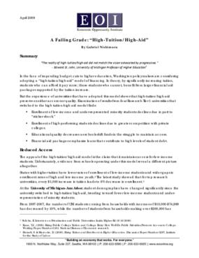 """A Failing Grade: """"High-Tuition/High-Aid"""""""