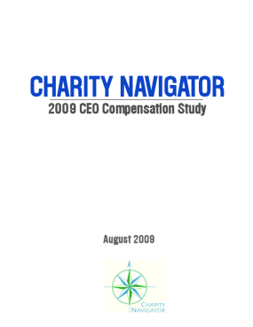 Charity Navigator: 2009 CEO Compensation Study