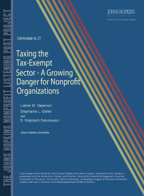 Communiqué No. 21: Taxing the Tax-exempt Sector: A Growing Danger for Nonprofit Organizations