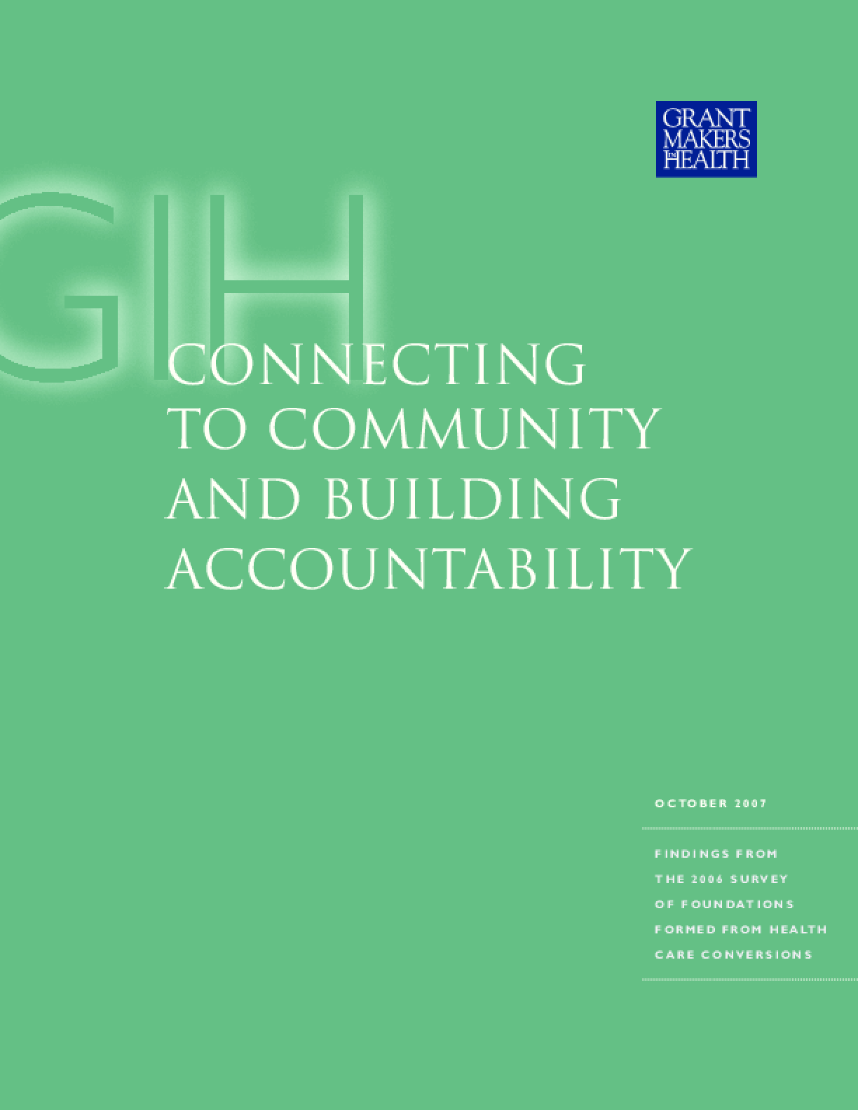 Connecting to Community and Building Accountability