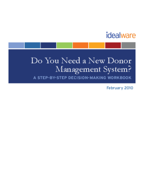 Do You Need a New Donor Management System? A Step-by-step Decision Making Workbook