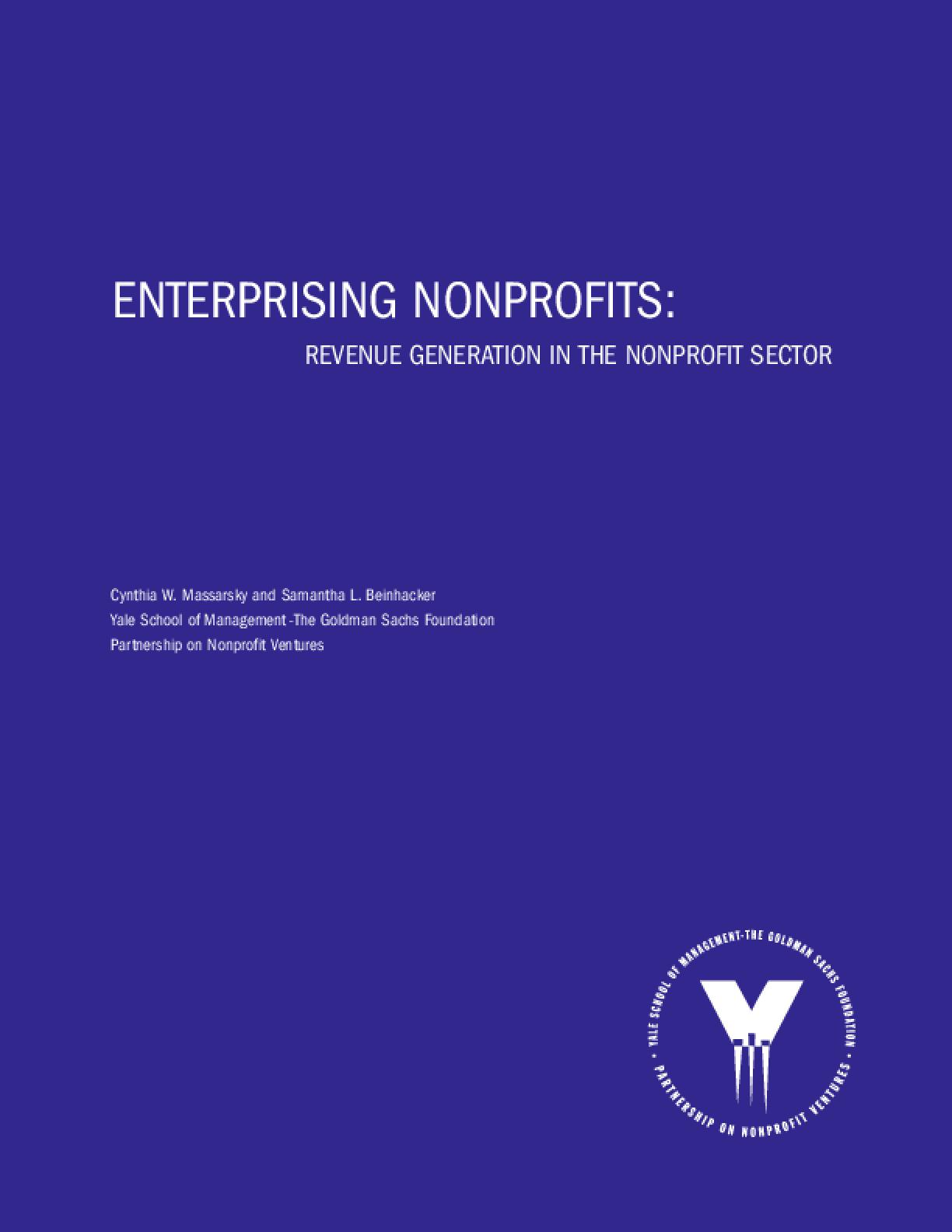 Enterprising Nonprofits: Revenue Generation in the Nonprofit Sector