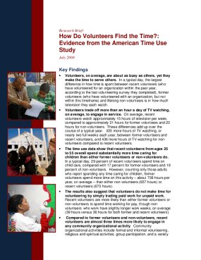 How Do Volunteers Find the Time?: Evidence From the American Time Use Study