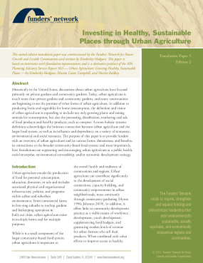 Investing in Healthy, Sustainable Places Through Urban Agriculture