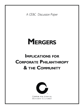 Mergers: Implications for Corporate Philanthropy & the Community