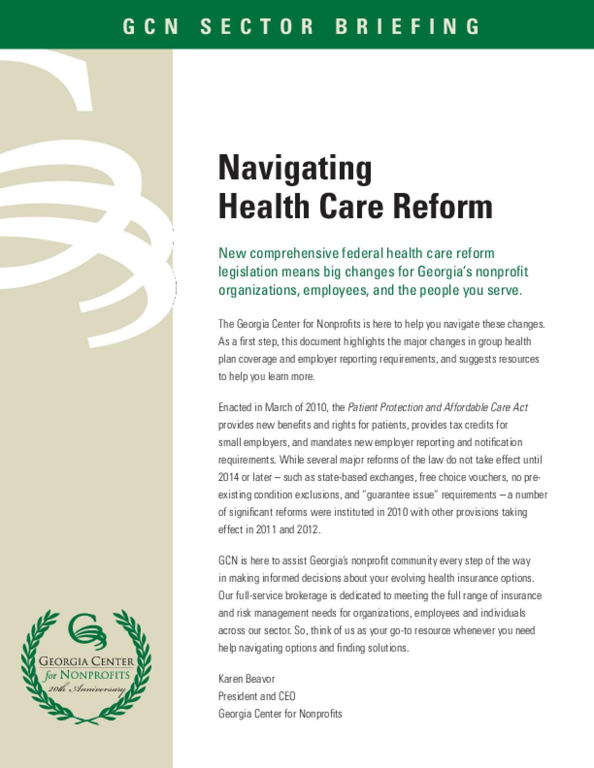 Navigating Health Care Reform