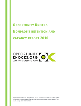 Nonprofit Retention and Vacancy Report