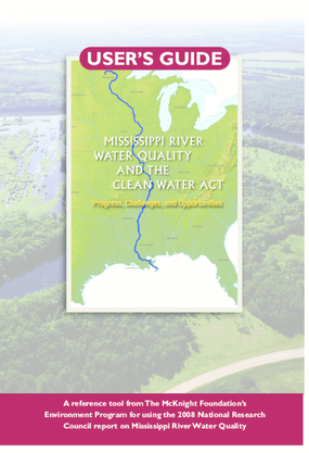 User's Guide: Mississippi River Water Quality and the Clean Water Act