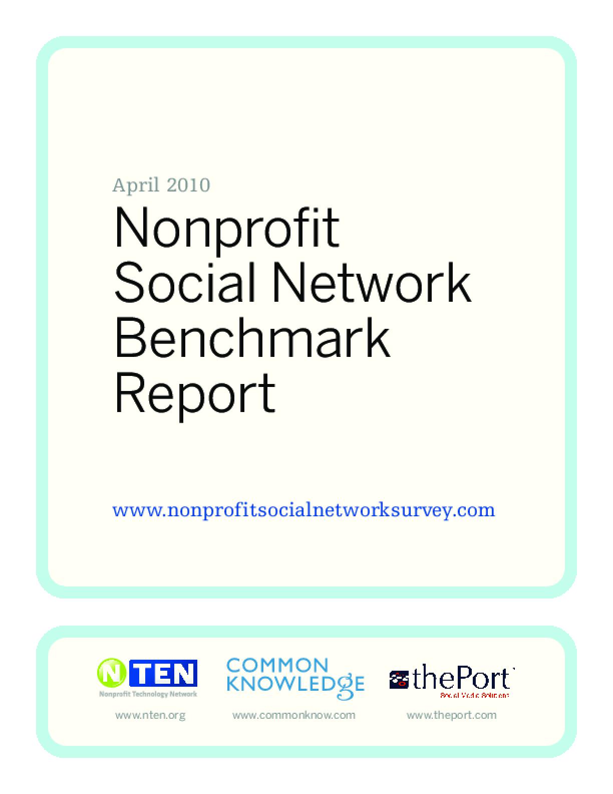 Nonprofit Social Network Benchmark Report