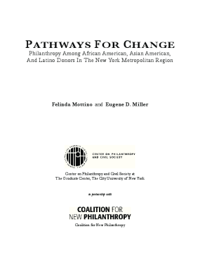 Pathways for Change: Philanthropy Among African American, Asian American, and Latino Donors in the New York Metropolitan Region
