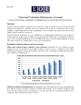 Universal Voluntary Retirement Accounts: Secure retirements, competitive businesses and economic growth for America