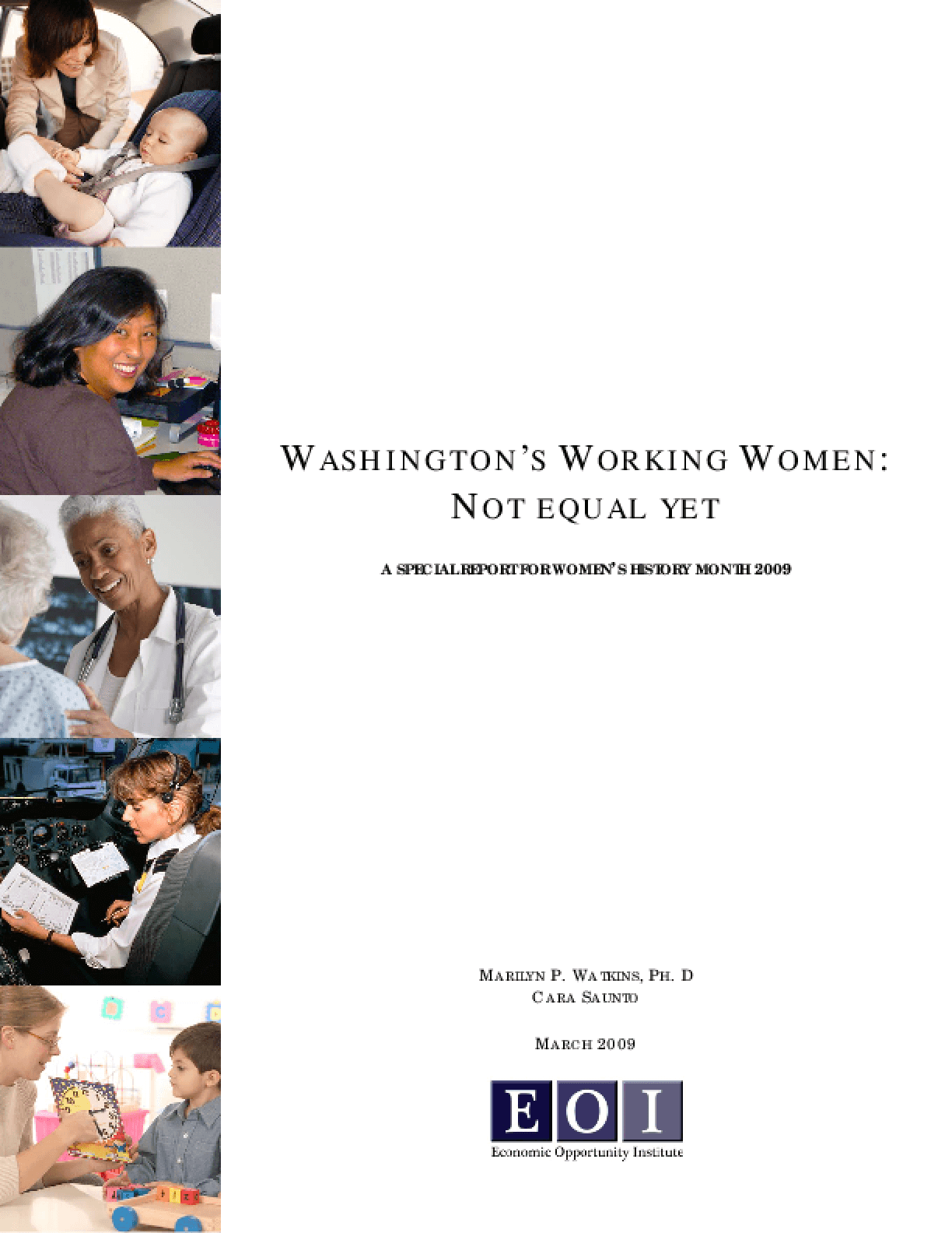 Washington's Working Women: Not Equal Yet