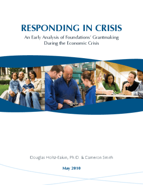 Responding in Crisis: an Early Analysis of Foundations' Grantmaking During the Economic Crisis