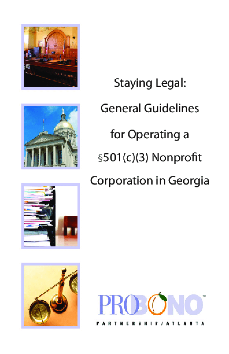 Staying Legal: General Guidelines for Operating a 501(c)(3) Nonprofit Corporation in Georgia