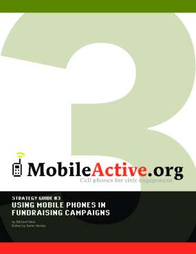 Strategy Guide 3: Using Mobile Phones in Fundraising Campaigns